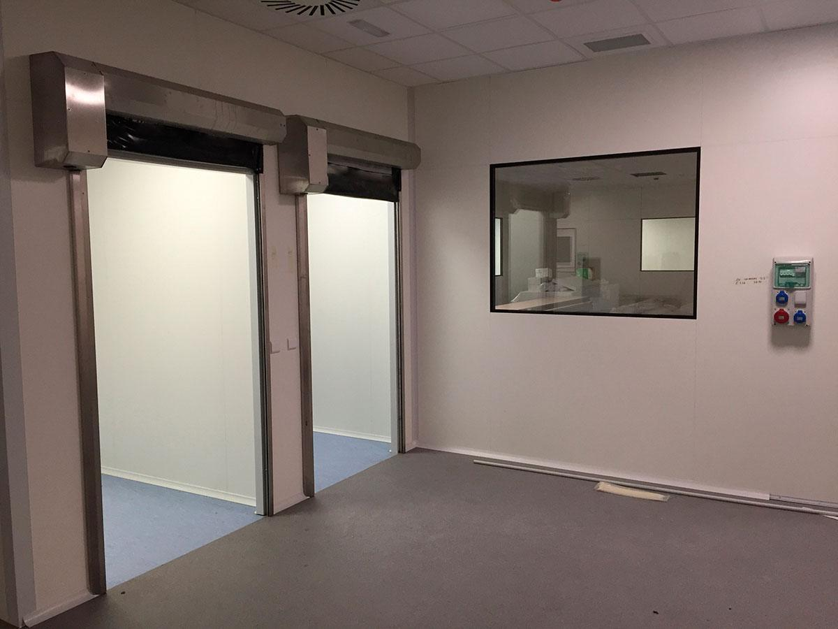 Puertas sala blanca