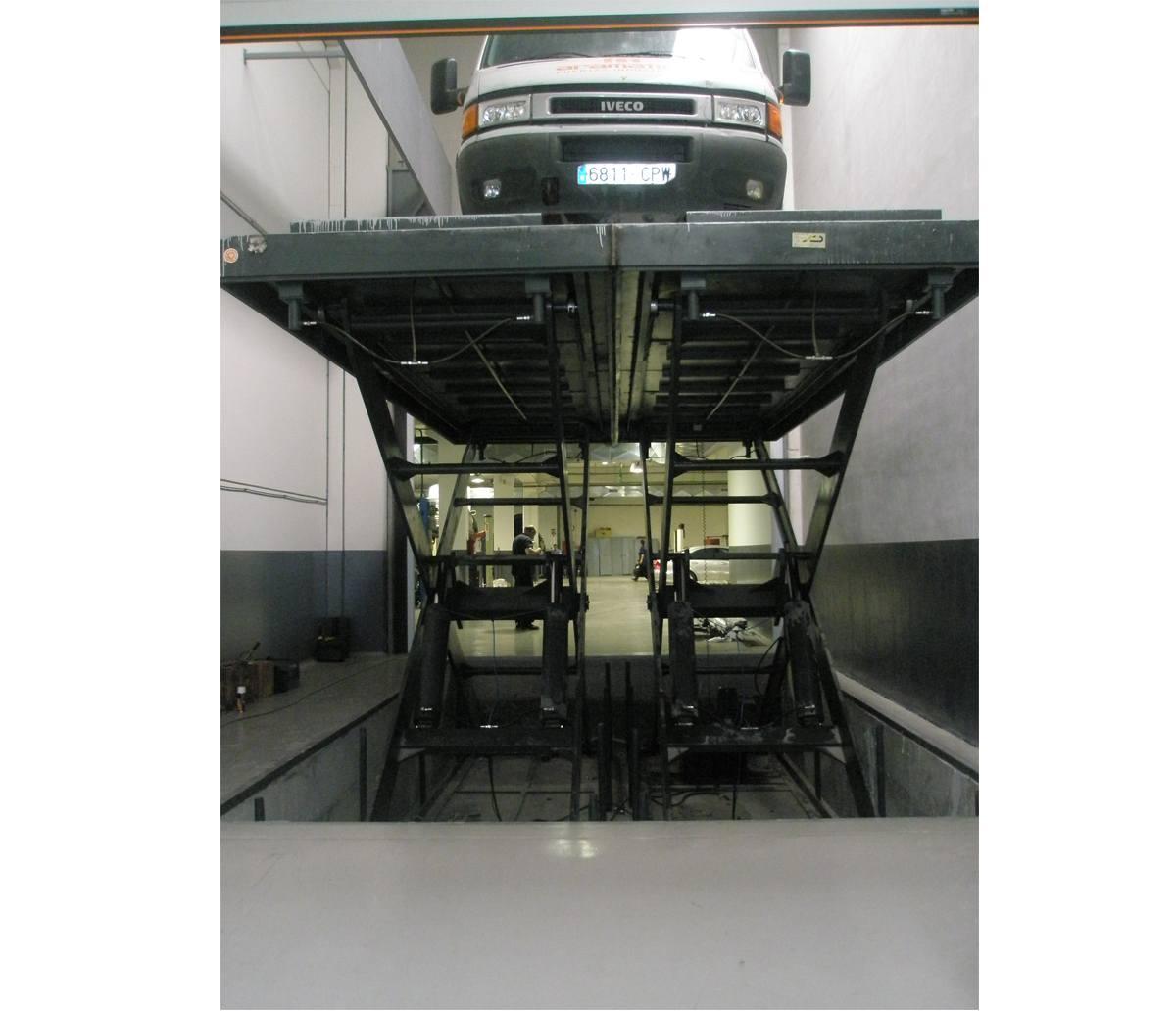 Rampa elevadora vehiculo