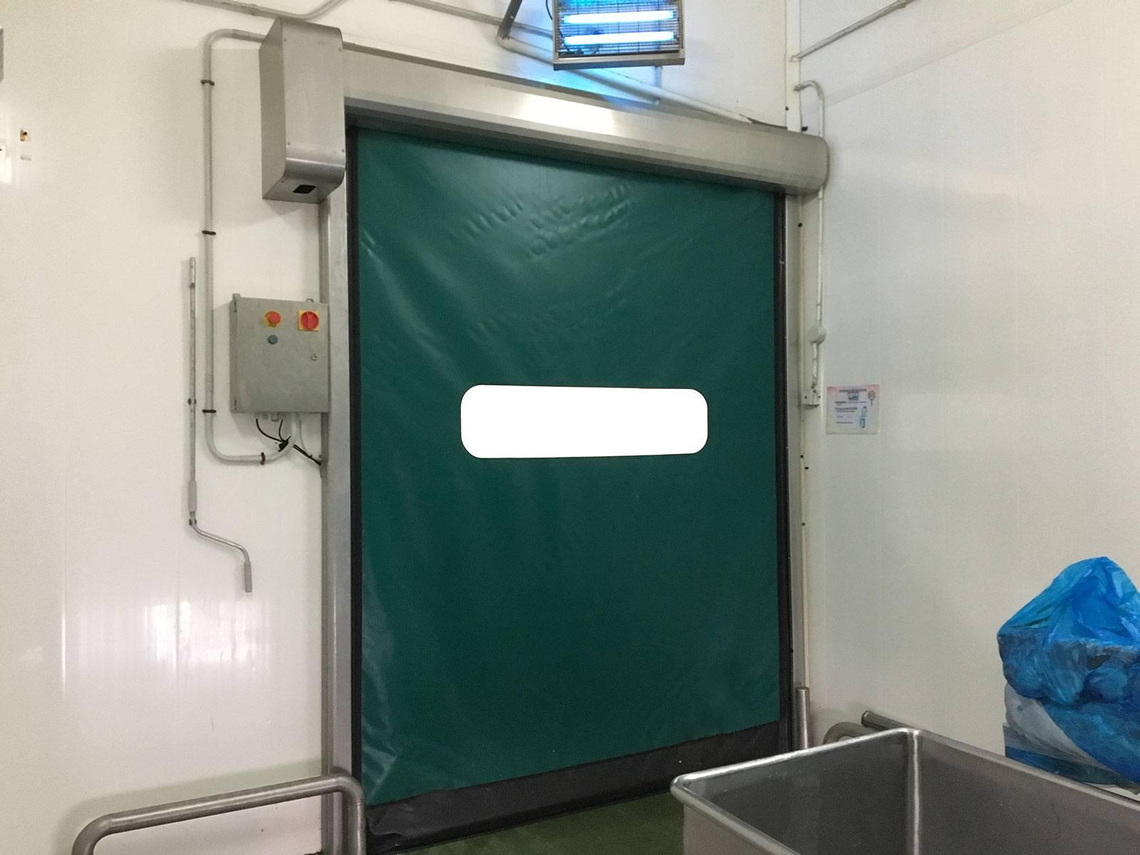 Puerta rápida autoreparable verde