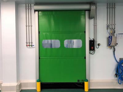 Puerta rápida enrollable aluminio